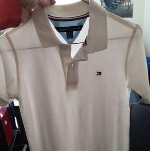 Boys large Tommy Hilfiger white polo shirt